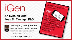 iGen: An Evening with author Jean M. Twenge, PhD