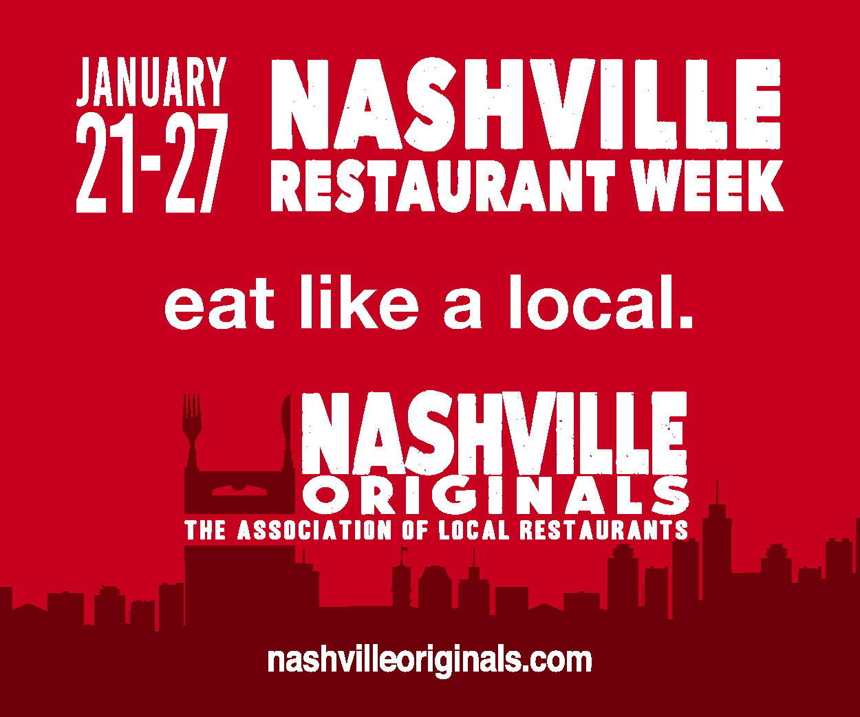 Celebrate Nashville Restaurant Week Jan. 21 - 27!
