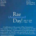 Rae Day! at The Free Nashville Poetry Library