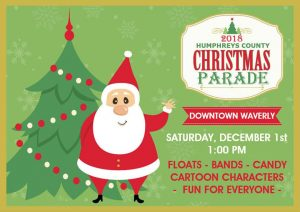 Humphreys County Christmas Parade - Downtown Waver...