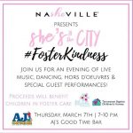 "NaSHEville's ""She's in the City"" #FOSTERKINDNESS"