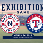 Exhibition Game | Nashville Sounds vs. Texas Rangers