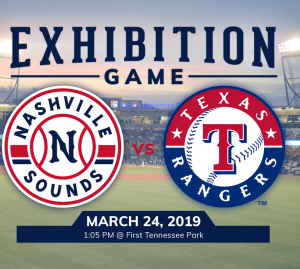 Exhibition Game | Nashville Sounds vs. Texas Range...