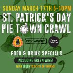 St. Patrick's Day Pie Town Crawl