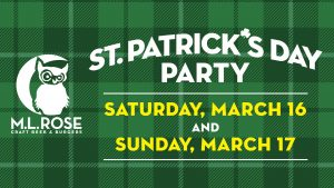 St. Patrick's Day Party at M.L. Rose