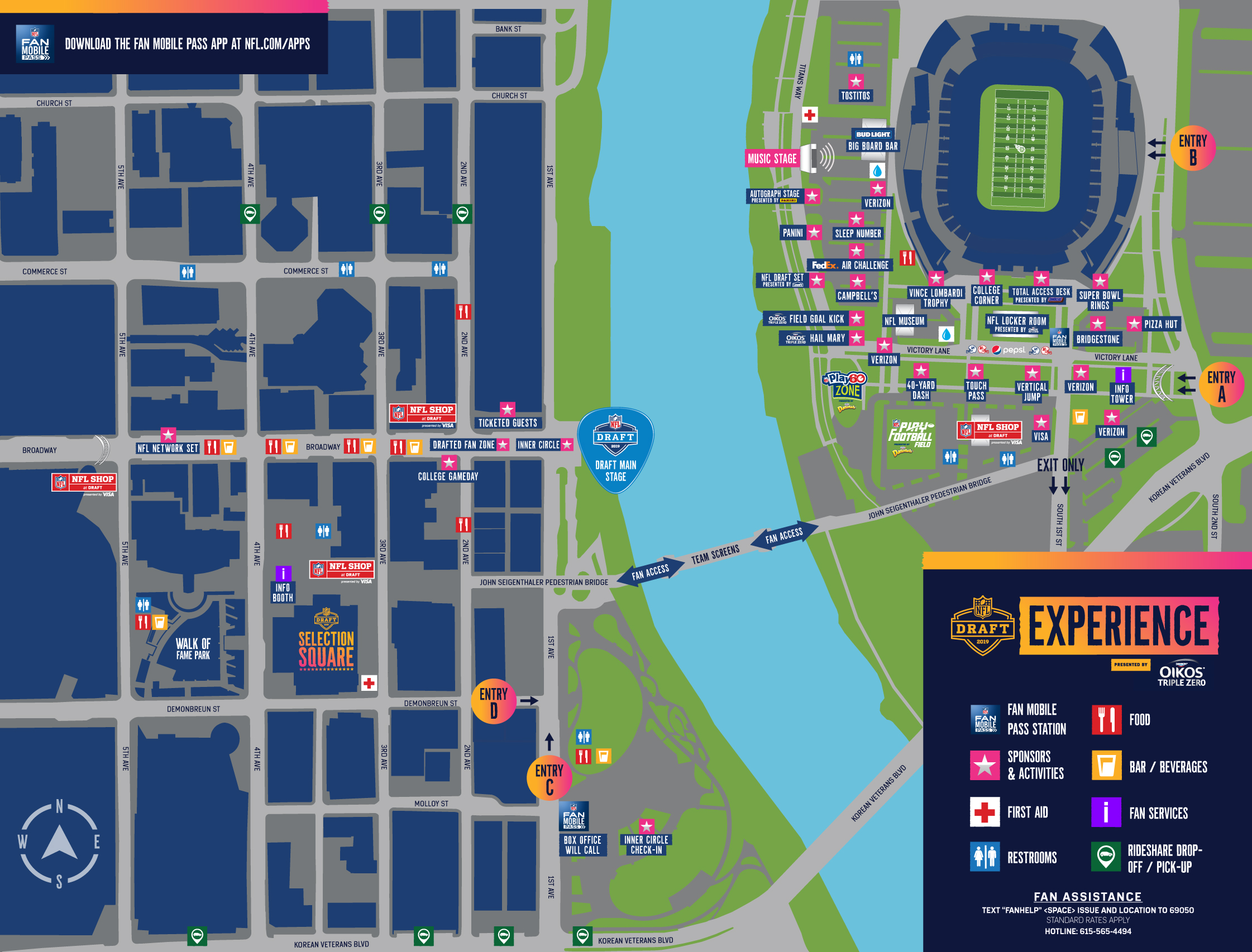 NFL DRAFT Map Nashville