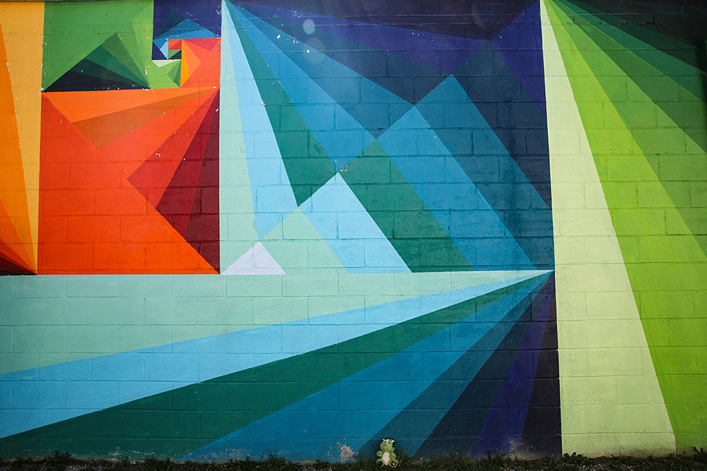 Colorful geometrics Mural