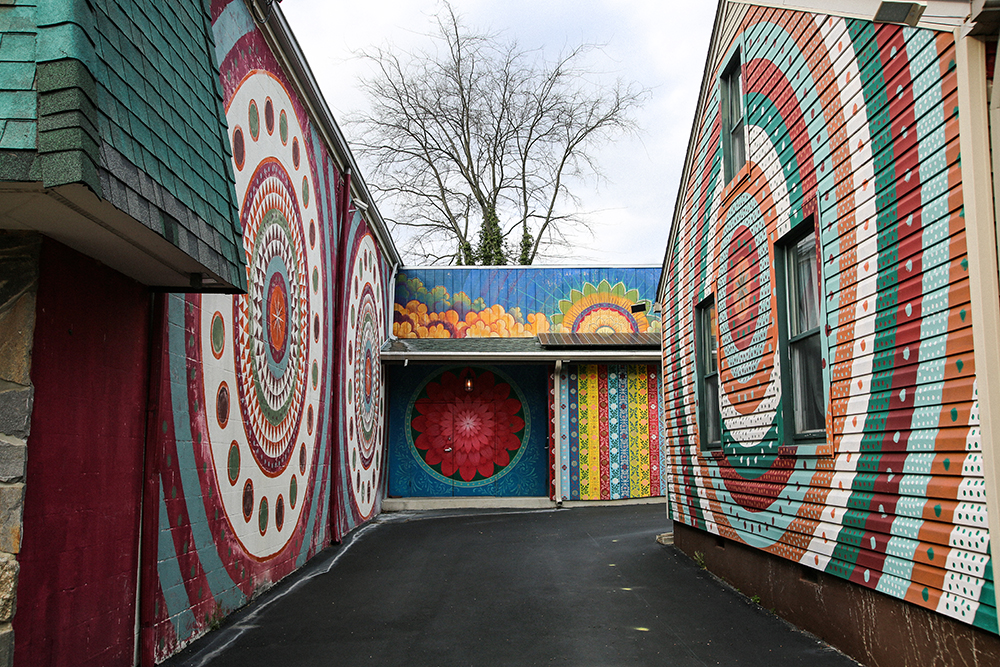 Happy Colorful Circles Mural