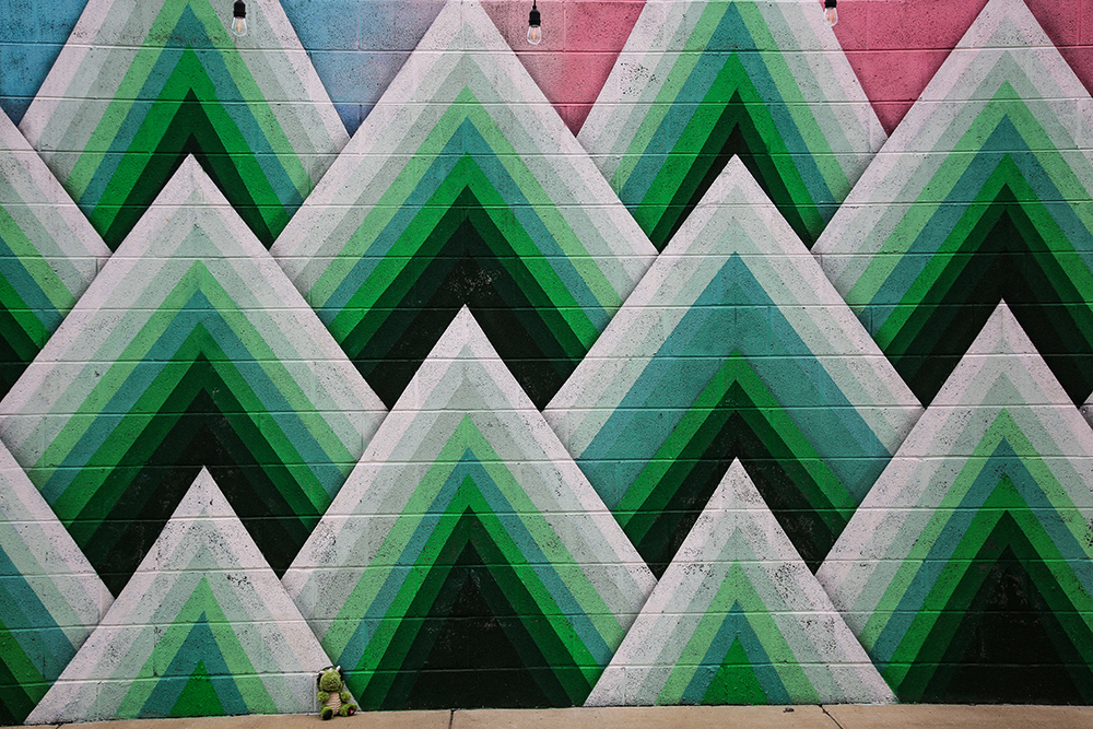 Green Triangle Mural
