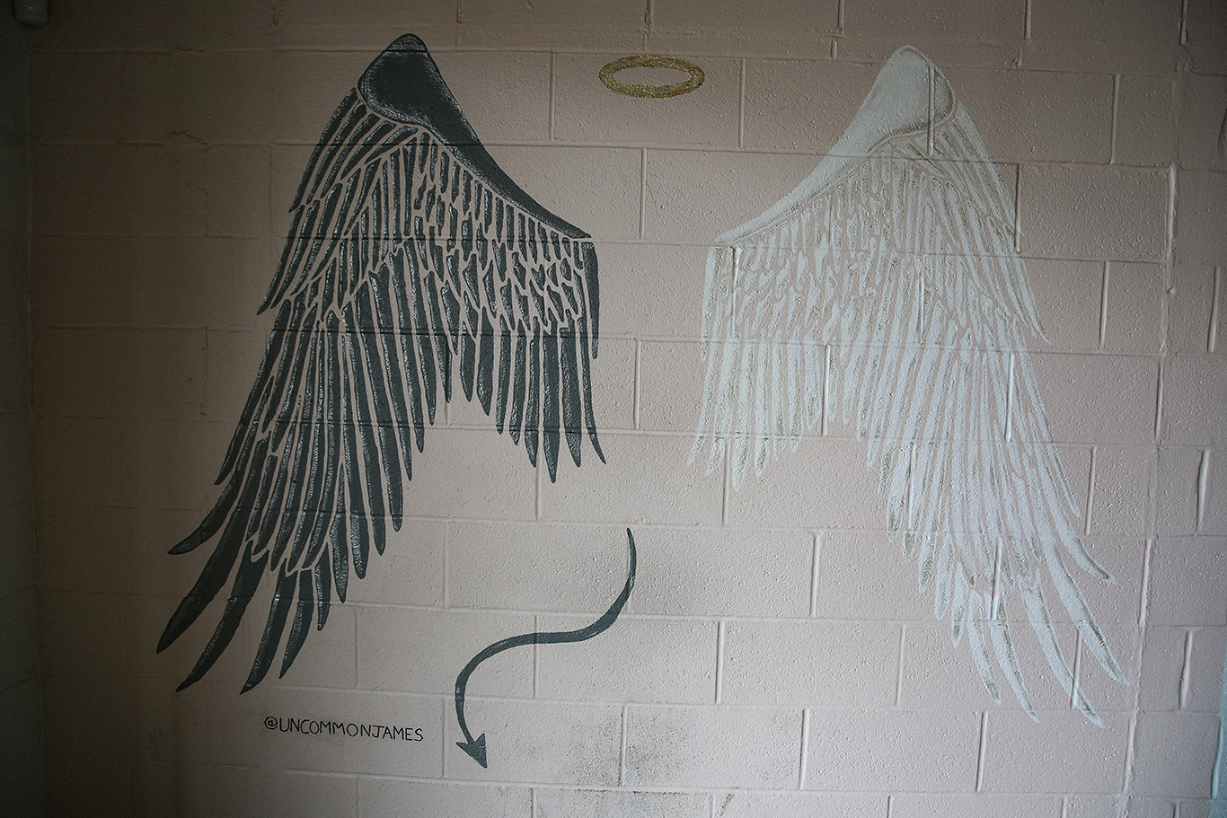 Angel Vs. Devil Mural