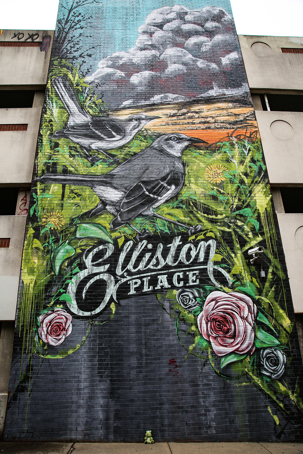 Elliston Place Garage Mural