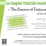 """In Depth TaiChi Workshop Series: #1 """"The Essence of Taijiquan"""" in Chen Style"""