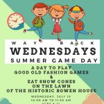 Way Back Wednesdays: Summer Game Day