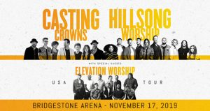 Casting Crowns + Hillsong Worship + Elevation Worship USA Tour