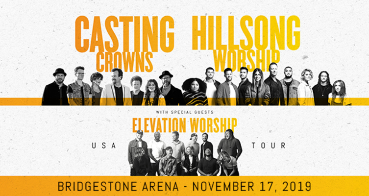 Casting Crowns Tour 2020.Casting Crowns Hillsong Worship Elevation Worship Usa