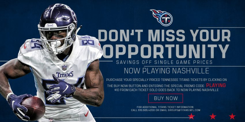 Grab Your Discount Tix to the Tennessee Titans Games!