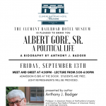 Book Lecture: Albert Gore Sr. A Political Life, by Anthony J. Badger