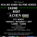 5th Annual Healing Hands Helping Heroes- Casino Night