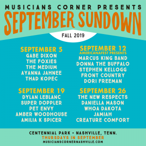 September Sundown feat. Dori Freeman, Front Country, Stephen Kellogg, Donna the Buffalo, Marcus King Band