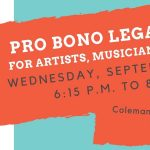 Free Legal Clinic for Artists, Musicians, & Creatives