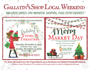 Holiday Tinsel & Treasures: Gallatin's Shop Local Weekend