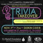 TJ Martell Foundation Trivia Takeover at Diskin Cider
