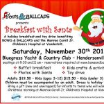 Breakfast with Santa Benefiting Bows and Ball Caps 2019