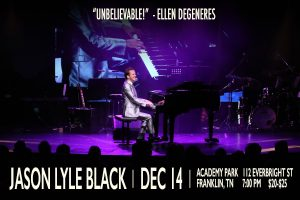 Comedic Pianist Jason Lyle Black In Concert
