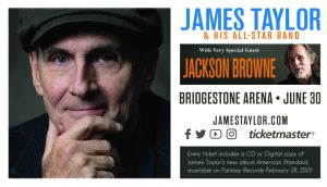 (RESCHEDULED) James Taylor and Jackson Browne