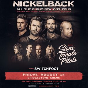 (CANCELLED) Nickelback w/Stone Temple Pilots