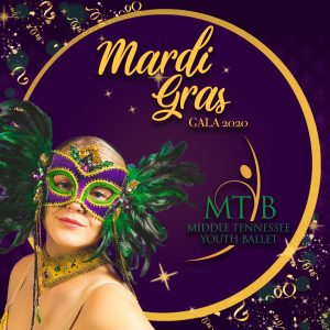 Middle Tennessee Youth Ballet's 4th Annual Fundraising Event - Mardi Gras Gala 2020
