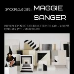 Modfellows Art Gallery presents Form(s) a Solo Exhibition by Maggie Sanger