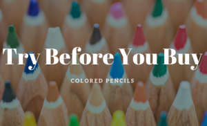 (CANCELLED) Try Before You Buy: Colored Pencils