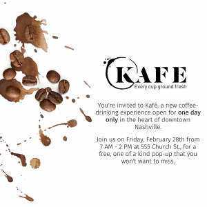 New Coffee Concept Pop Up