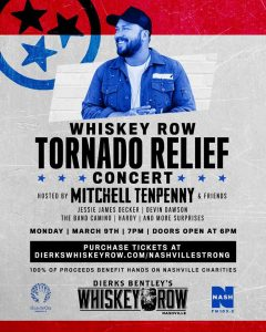 Tornado Relief Concert Hosted by Mitchell Tenpenny