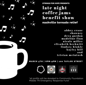 Late Night Coffee Jams Disaster Relief Benefit Show