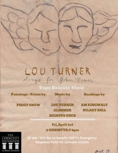 (CANCELLED) Lou Turner Album Release Benefitting Tornado Relief