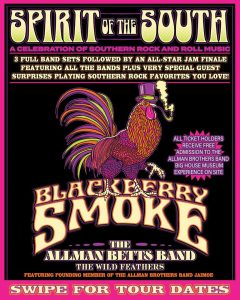 Spirit of the South Tour: Blackberry Smoke with The Allman Betts Band, The Wild Feathers, Jaimoe