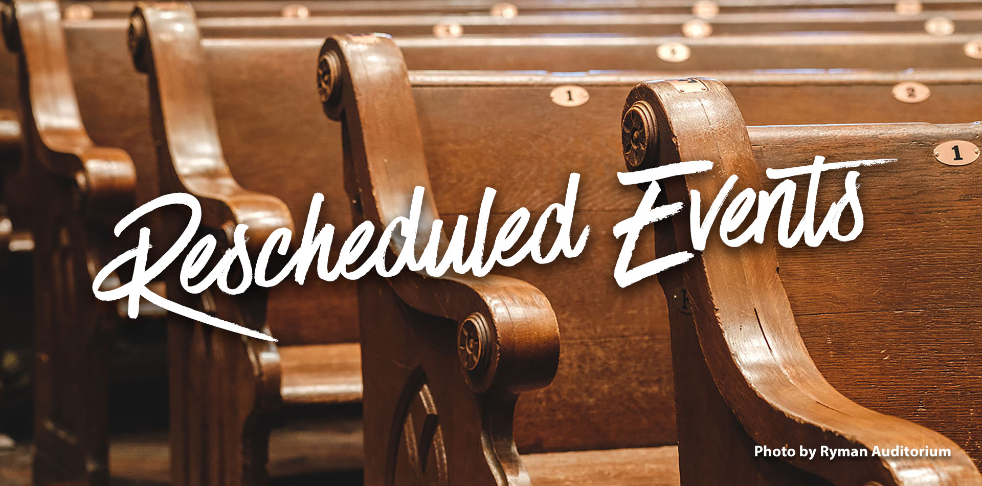 Rescheduled Events