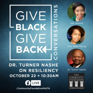 Give Black, Give Back Conversations: Dr. Turner Na...
