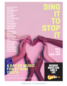 Sing It To Stop It: A Day of Music for At-Risk You...
