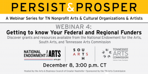 Persist & Prosper: Getting to Know Your Federal and Regional Funders