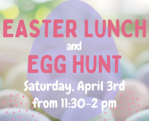 Easter Lunch and Egg Hunt