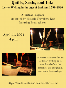 Quills, Seals, and Ink: Letter Writing in the Age of Jackson, 1790-1830