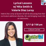 Culture Corner Call: Lyrical Lessons