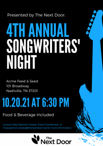 4th Annual Songwriters' Night