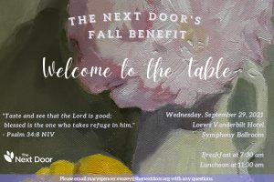 Welcome to the Table: Fall Benefit
