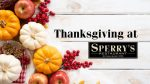 Thanksgiving Meal at Sperry's Belle Meade