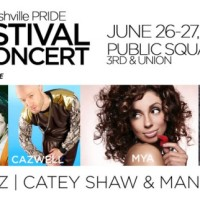 Nashville PRIDE 2015 Festival and Concert with St. Lucia, Cazwell, Mya, Who is Fancy and More