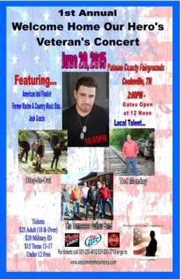 1st annual welcome home our hero's veteran concert